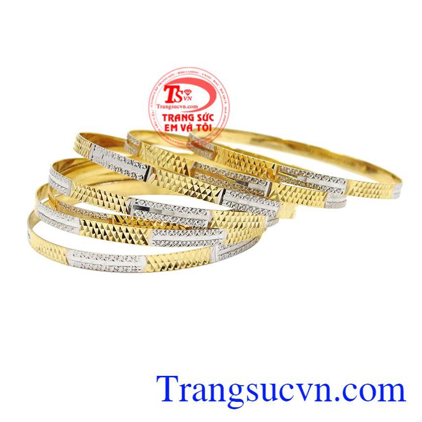 Vòng tuần vàng tây chất lượng, Vòng tuần nữ vàng, Vòng tay vàng sang trọng